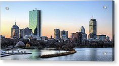 Back Bay Sunrise Acrylic Print by JC Findley