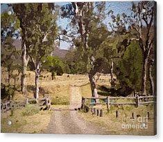 Back Country Farm Track Acrylic Print