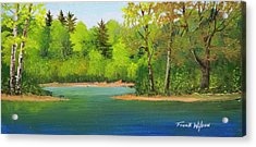 Acrylic Print featuring the painting Back Country Pond by Frank Wilson