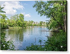 Acrylic Print featuring the photograph Back Creek At Severn House by Charles Kraus