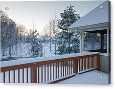 Winter Deck Acrylic Print
