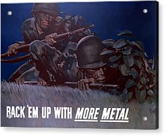 Back 'em Up -- Ww2 Acrylic Print by War Is Hell Store