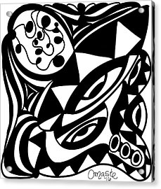 Back In Black And White 1 Modern Art By Omashte Acrylic Print by Omaste Witkowski