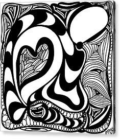 Back In Black And White 10 Modern Art By Omashte Acrylic Print by Omaste Witkowski