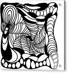Back In Black And White 14 Modern Art By Omashte Acrylic Print by Omaste Witkowski