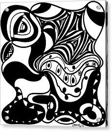 Back In Black And White 2 Modern Art By Omashte Acrylic Print by Omaste Witkowski