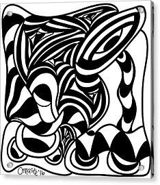 Back In Black And White 4 Modern Art By Omashte Acrylic Print by Omaste Witkowski