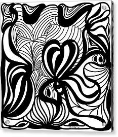 Back In Black And White 6 Modern Art By Omashte Acrylic Print by Omaste Witkowski