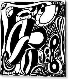 Back In Black And White 7 Modern Art By Omashte Acrylic Print by Omaste Witkowski