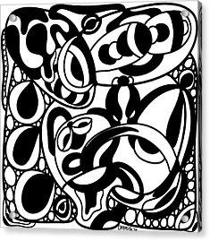 Back In Black And White 8 Modern Art By Omashte Acrylic Print by Omaste Witkowski