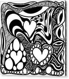 Back In Black And White 9 Modern Art By Omashte Acrylic Print by Omaste Witkowski