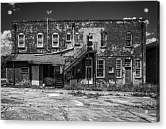 Back Lot - Bw Acrylic Print by Christopher Holmes