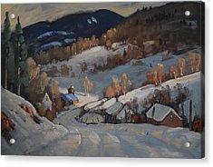 Back Road Vermont Acrylic Print by Len Stomski