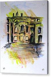Back Side Basilca St Mary Major Acrylic Print