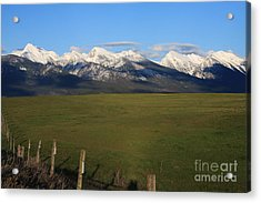 Back To Mission Mountains Acrylic Print