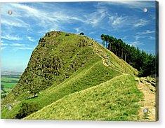 Back Tor On The Great Ridge Acrylic Print by Rod Johnson