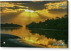 Acrylic Print featuring the photograph Back Up Reflection by Tom Claud