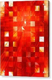 Background Heat Acrylic Print