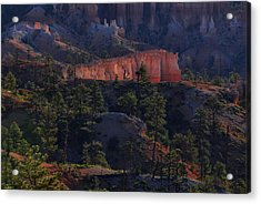 Acrylic Print featuring the photograph Backlit Hoodoos At Sunrise by Stephen  Vecchiotti