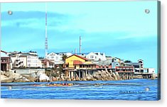 Fishermans Wharf 2 Acrylic Print by Barbara Snyder