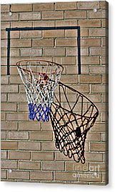 Acrylic Print featuring the photograph Backyard Basketball by Stephen Mitchell
