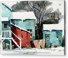Backyard Bike Acrylic Print by Art Scholz