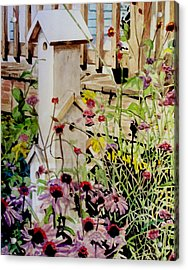 Acrylic Print featuring the painting Backyard Condo by Jim Phillips