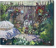 Backyard Flowers  Acrylic Print by Ylli Haruni