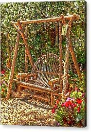 Backyard Garden Acrylic Print