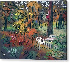 Backyard In Autumn Acrylic Print by Donald Maier