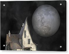 Backyard Moon Super Realistic  Acrylic Print by Betsy Knapp
