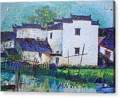 Backyard Pond Minature Acrylic Print