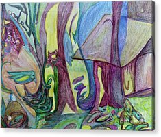 Backyard Spring Acrylic Print