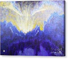 Backyard Sunset Acrylic Print by Gene Huebner