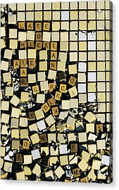Bad At Scrabble Acrylic Print