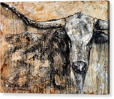 Bad Attitude Texas Longhorn Contemporary Painting Acrylic Print
