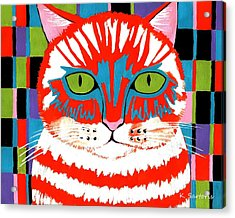 Acrylic Print featuring the painting Bad Cattitude by Kathleen Sartoris