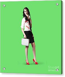 Bad Day At The Office Acrylic Print by Jorgo Photography - Wall Art Gallery