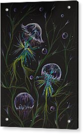 Acrylic Print featuring the drawing Bad Hair Day Solutions by Dawn Fairies