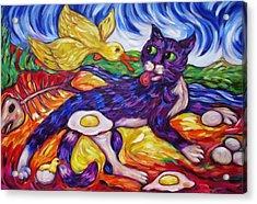 Bad Kitty Gets Caught Again Acrylic Print