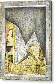 Acrylic Print featuring the mixed media Bad Luck by Tony Rubino