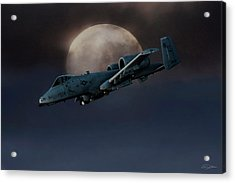 Acrylic Print featuring the digital art Bad Moon by Peter Chilelli