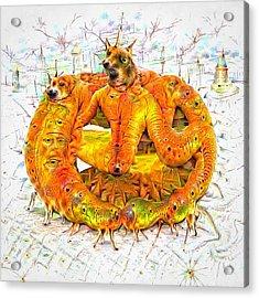 Bad Trip - Orange Deep Dream Creature Acrylic Print