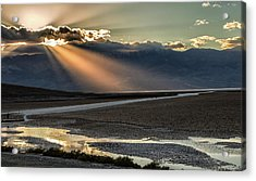 Acrylic Print featuring the photograph Bad Water Basin Death Valley National Park by Michael Rogers