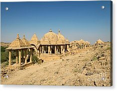 Acrylic Print featuring the photograph Bada Bagh Of Jaisalmer by Yew Kwang