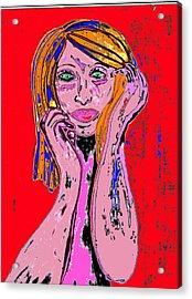 Badgirl Acrylic Print