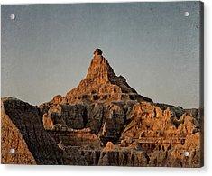 Badlands At Sunrise Acrylic Print