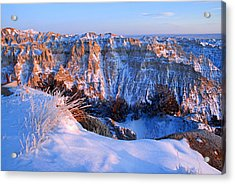 Badlands At Sunset Acrylic Print