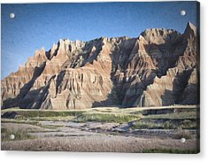 Acrylic Print featuring the photograph Badlands by Christopher Meade