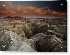 Badlands Acrylic Print by Eric Foltz